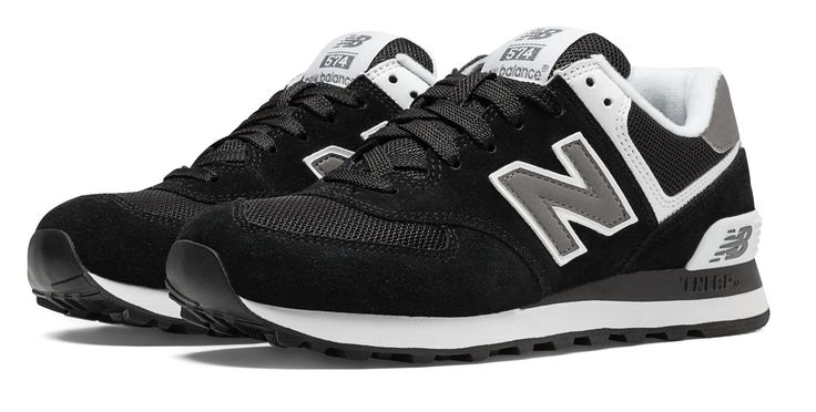 574 New Balance, Black with White