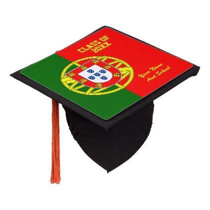 Portuguese flag class of school graduation party graduation cap topper - college graduation gift idea cyo custom customize personalize special