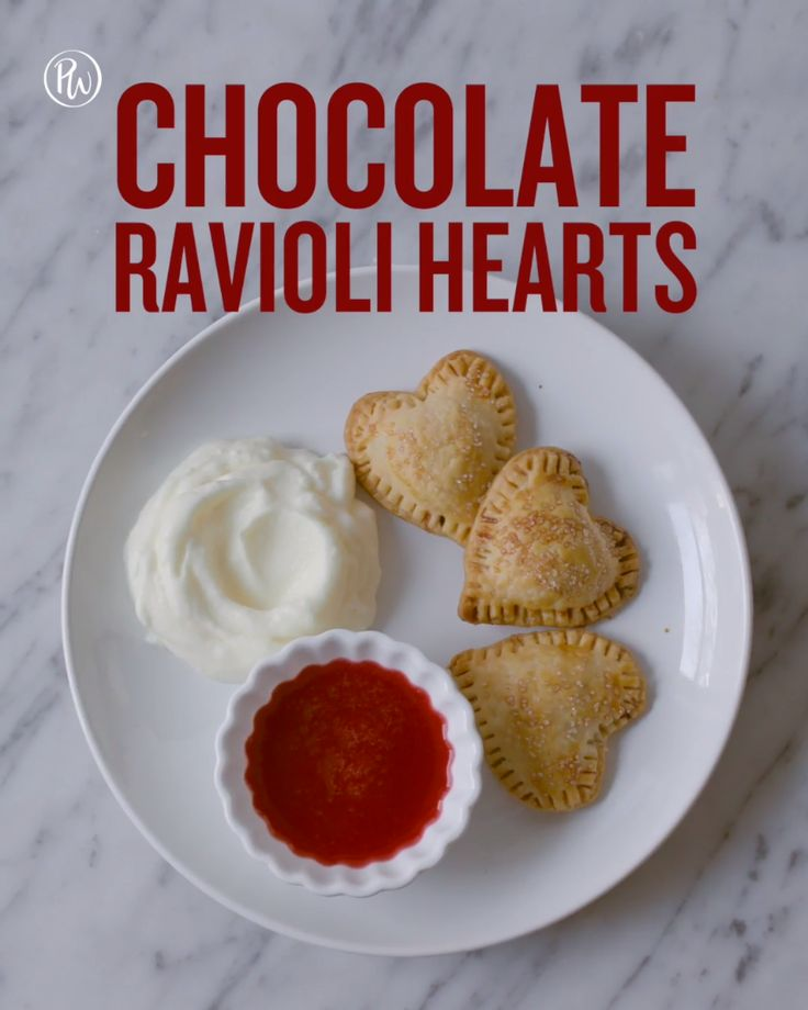Here's how to make cute chocolate ravioli hearts for Valentine's Day using @dovechocolate and pie crusts. — via @PureWow #ad