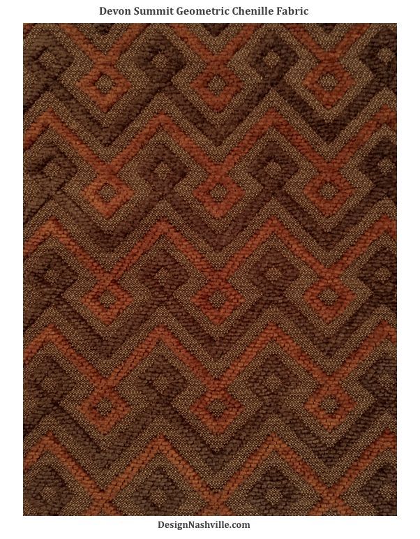 Devon Summit Geometric Chenille Fabric