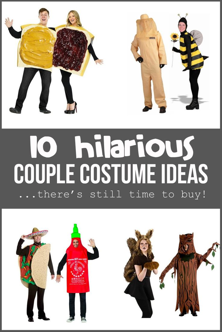 10 Hilarious COUPLE COSTUME IDEAS....there's still time to BUY! | via Make It and Love It