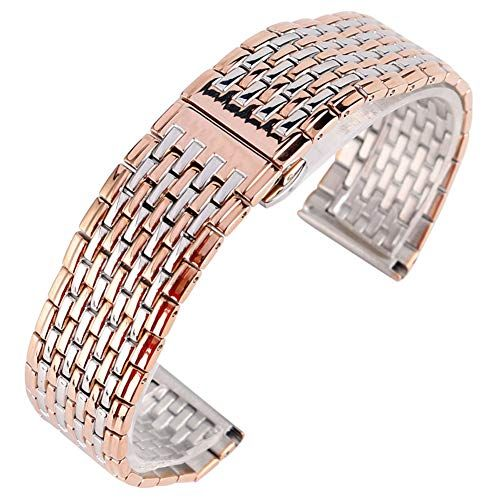d9a02e508e95a Rose Gold Stainless Steel Watches Bands 20mm 22mm Watch Strap, Replacement  Wrist Bracelet (20MM, Rosegold)