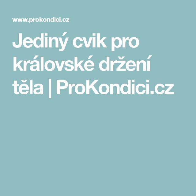 Jediný cvik pro královské držení těla   ProKondici.cz