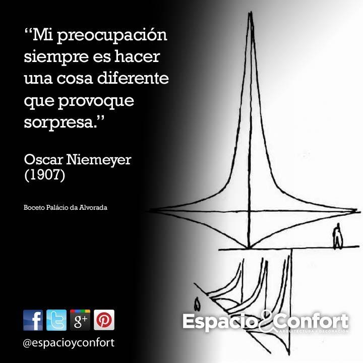 # FRASES  Mi preocupación es hacer una cosa diferente que provoque sorpresa. Oscar Niemeyer www.espacioyconfort.com.ar
