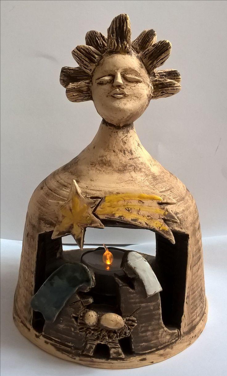 Ceramic nativity keramicky betlém na svíčku