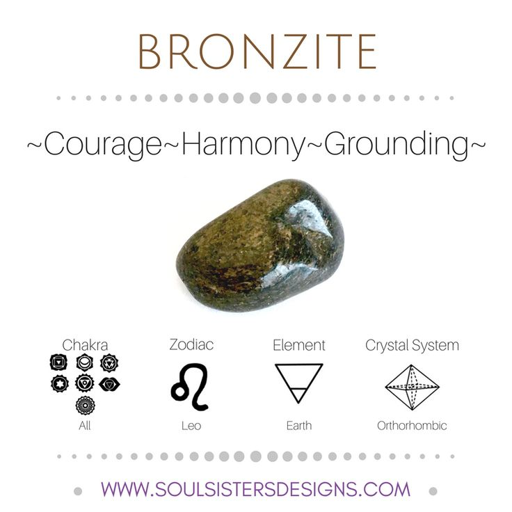 ∆ Bronzite... Metaphysical Healing Properties of Bronzite, including associated Chakra, Zodiac and Element, along with Crystal System/Lattice to assist you in setting up a Crystal Grid. Go to https:/www.soulsistersdesigns.com to learn more!