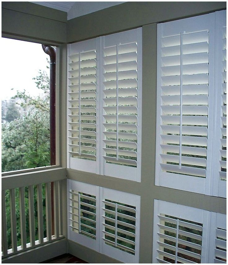 exterior shutters | Exterior Plantation Shutters - Window Treatments - Zimbio