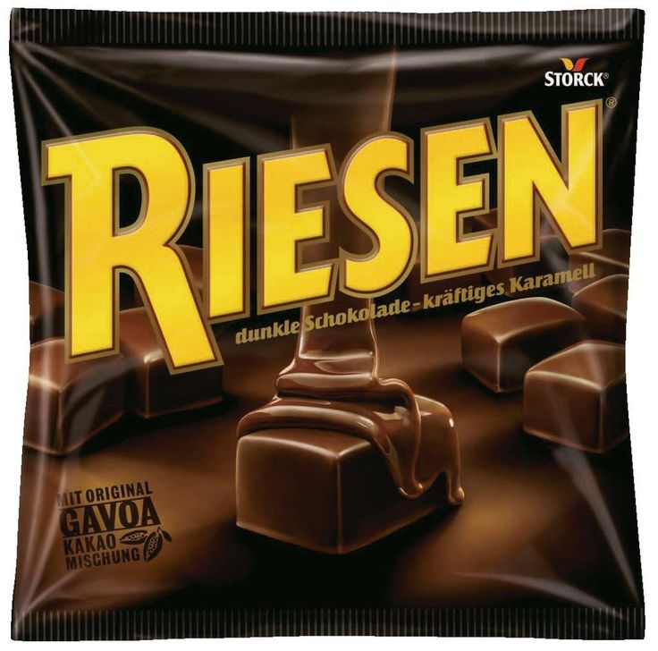 Storck Riesen - that's chewy chocolate caramel with a thick layer of dark…