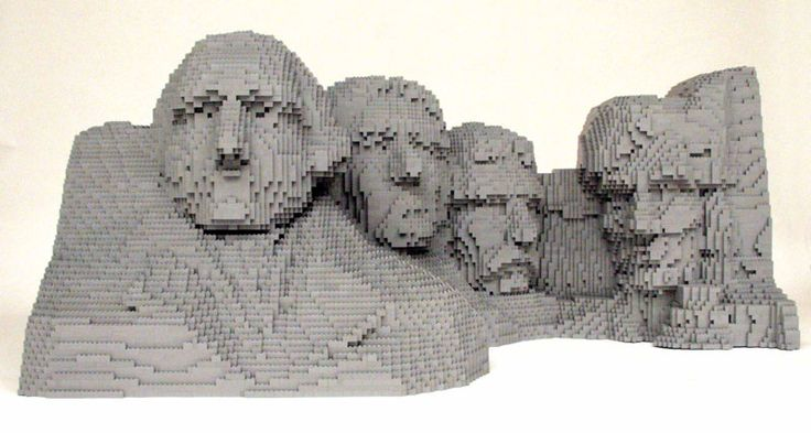 "wow  Yep, that's a replica of Mt. Rushmore made out of Legos! Nathan Saway is referred to as ""The Brick Artist"" and for good reason.  Visit Nathan's site and check out his portfolio!"