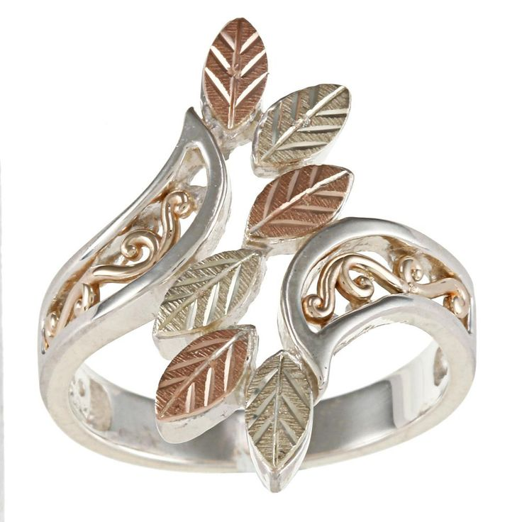 Black Hills Gold and Sterling Silver Women's Fashion Rings: Jewelry