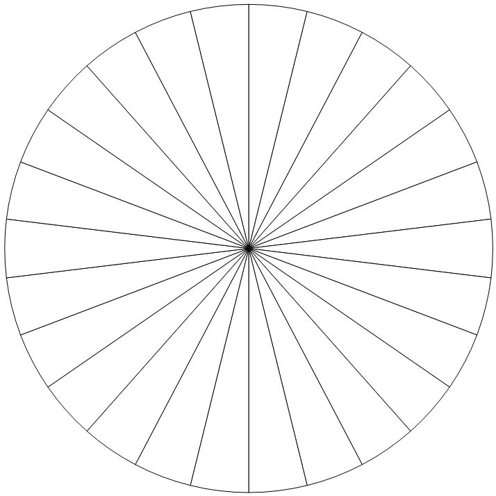26-section pie chart--use this to make a circular