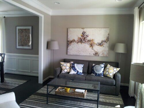 Decor & colors in the formal living room  -  Ryan Homes, Rome Model