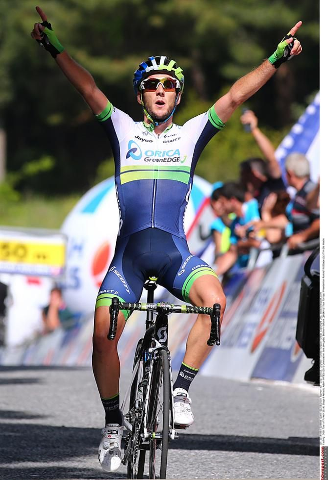 Presidential Cycling Tour of Turkey 2014 - Orica-GreenEdge's Adam Yates celebrates his Stage 6 win at the Tour of Turkey
