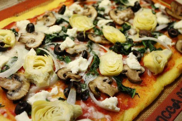... pizza | Healthy Goodies | Pinterest | Polenta Pizza, Polenta and Pizza