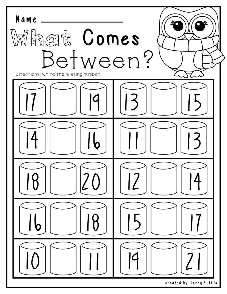 Kindergarten No Prep Winter Math and Literacy