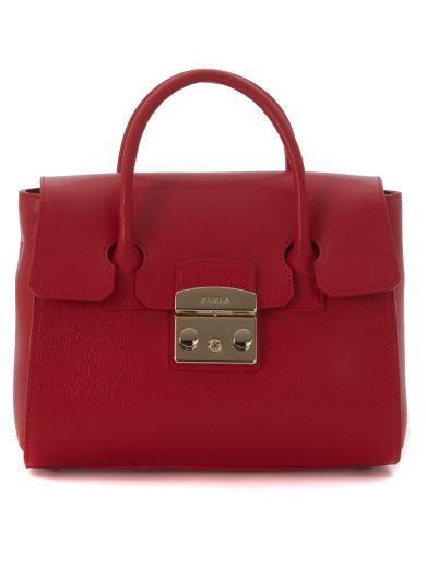 FURLA Borsa A Mano Furla Metropolis In Pelle Rossa. #furla #bags # #