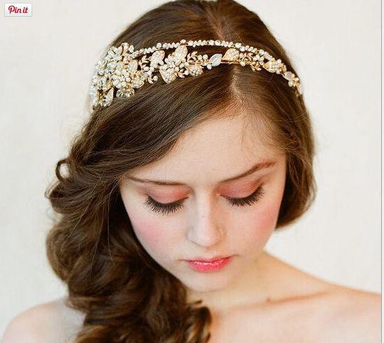 Romantic Handmade Crystal, Rhinestone And Pearl Hairband