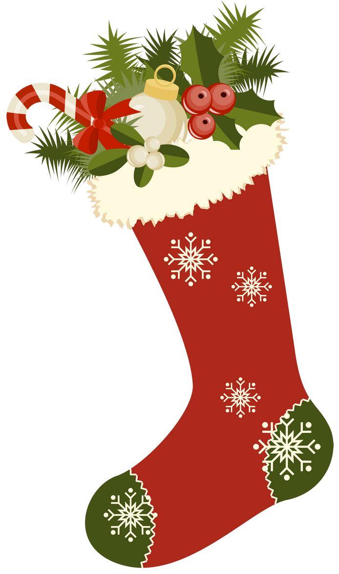 Vintage Christmas Stockings Clipart | Printibles Christmas ...