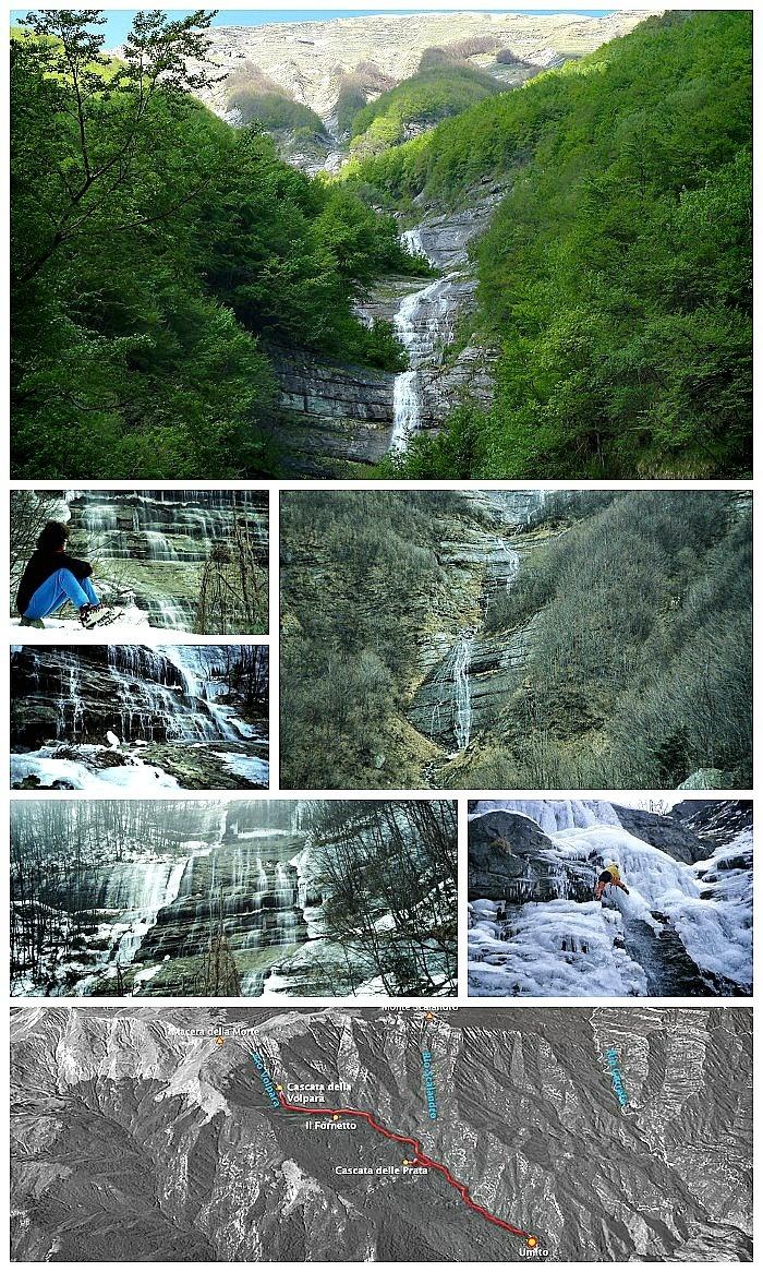 Escursioni nelle Marche: Cascate della Volpara (Monti della Laga)