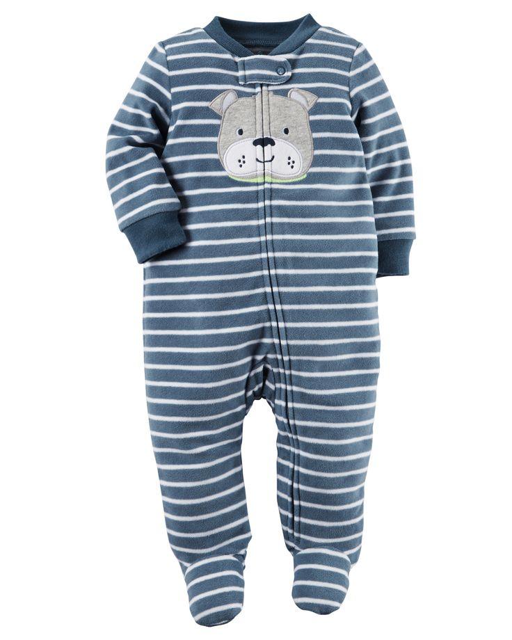 Baby Boy Fleece Zip-Up Sleep & Play from Carters.com. Shop clothing &…