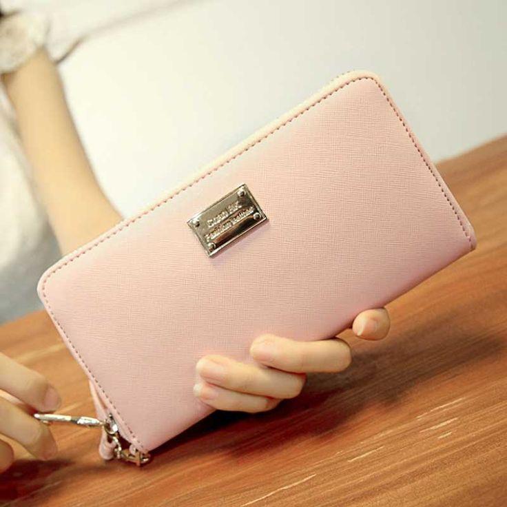 $16.30 (Buy here: https://alitems.com/g/1e8d114494ebda23ff8b16525dc3e8/?i=5&ulp=https%3A%2F%2Fwww.aliexpress.com%2Fitem%2FNew-Fashion-Female-Wallets-Zipper-Korean-Cute-Leather-Solid-wallet-Women-Wallets-clutch-carteira-feminina-Wallet%2F32694941627.html ) New Fashion Female Wallets Zipper Korean Cute Leather Solid wallet Women Wallets clutch carteira feminina Wallet carteras mujer for just $16.30