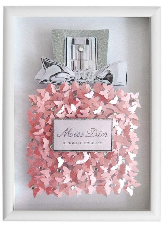 Miss Dior Perfume Bottle Picture 3d Butterflies Without Frame