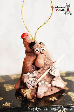Домовой - оберег Митрофан - керамика, амулеты и обереги в подарок. МегаГрад - online выставка-продажа авторской ручной работы