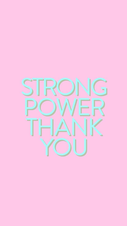 Bts Strong Power Thank You Rap Monster Namjoon Iphone