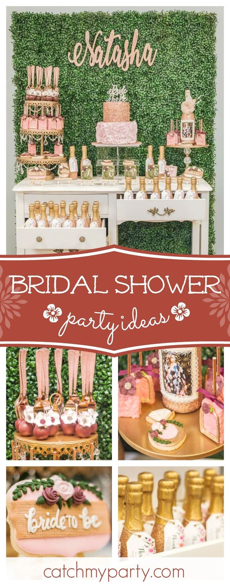 bridal shower gift ideas for bride philippines%0A Take a look at this gorgeous gold and blush Bridal Shower  The sugar coated  cookies