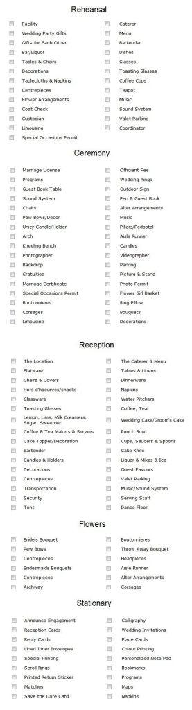 17 beste ideeën over Wedding Checklist Template op Pinterest ...