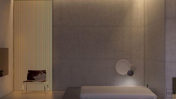 industrial-japanese-style-single-bedroom-bottom-illumination-low-lying-futon-style-bed
