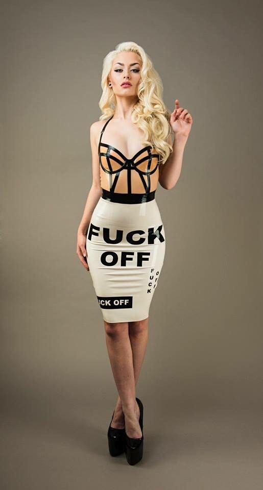 Latex F*** OFF Skirt