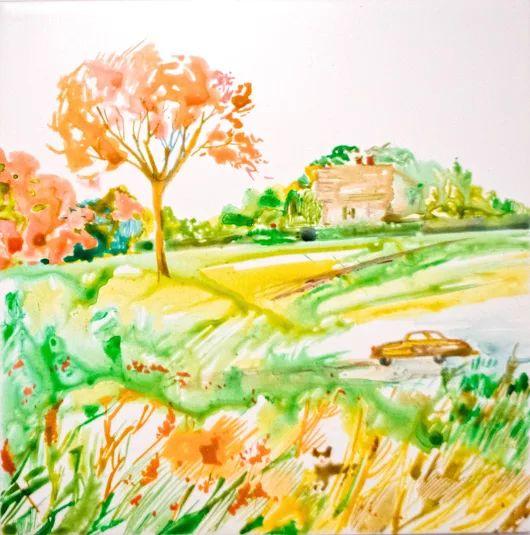 Просёлочная дорога Промчаться на стареньком автомобиле с ветерком по проселочной дороге. Вдохнуть свежий воздух. Отдохнуть в домике в деревне, где поют птицы, цветут и пахнут цветы, растут огурцы, лук и помидоры. Выпить парного молока от Бурёнки. И много, много другого можно сделать и насладиться в деревне... Детская тематика Керамическая плитка для кухни и ванной комнаты 20X20  Краска по керамике Комментируйте, плюсуйте, задавайте вопросы, заказывайте :) #просёлочная #дорога #керамическая