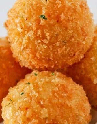 Cheddar Potato Balls ~ delectable bite... the possibilities are endless.