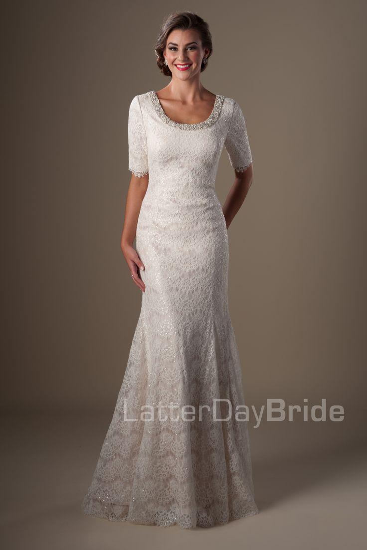 147 best modest wedding dress images on pinterest short for Latter day bride wedding dresses