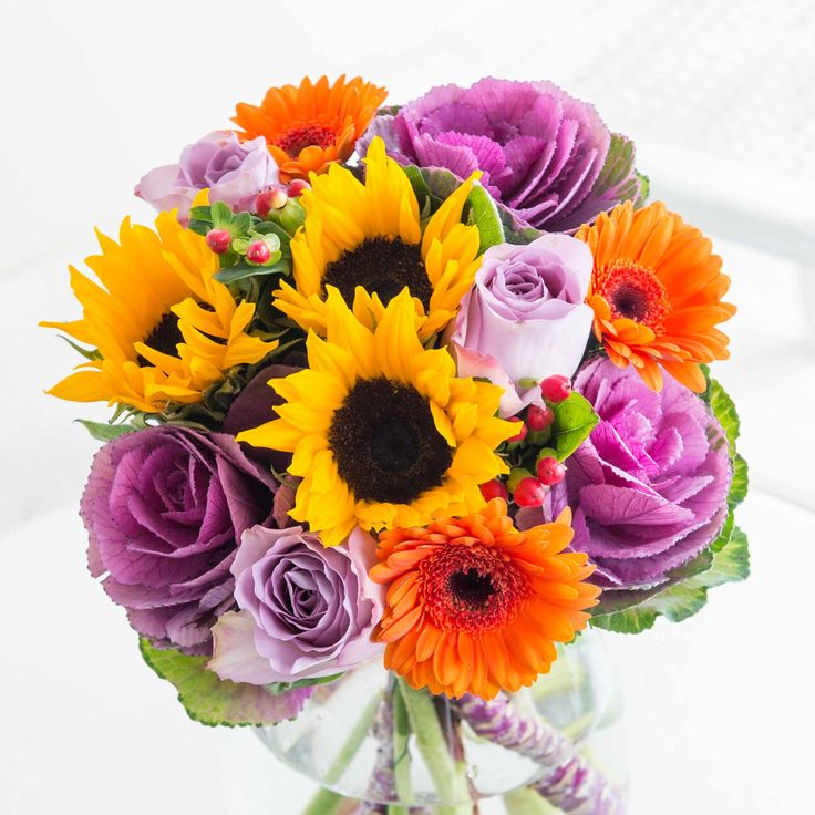 Autumn Morning: This striking bouquet embodies the colourful skies, radiant sunshine and overwhelming happiness of a warm Autumn morning.