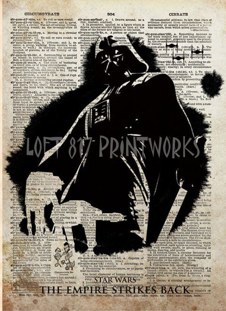 Star wars art print, The Empire Strikes Back poster, vintage star wars art, dictionary print
