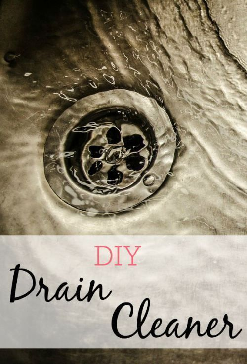 Skip the drano and try this easy DIY drain cleaner. No chemicals needed and your drain will be faster.