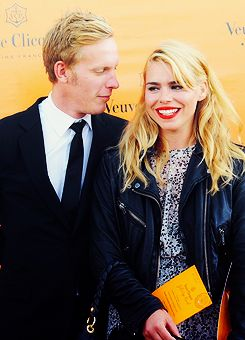 laurence fox and billie piper{husband and wife}fox is great as hathaway on inspector lewis and piper well she's just awesome...