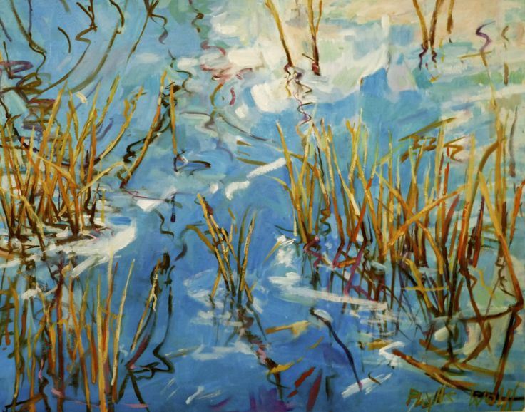 Winter Pond III  oil/canvas72 92cm