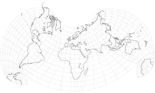 Kent Halstead's Composite World Projection (revised 2012 version)