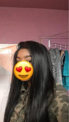 Thriving Hair Silky Straight Virgin Human Hair 6 Inches Lace Front Wigs with Baby Hairs