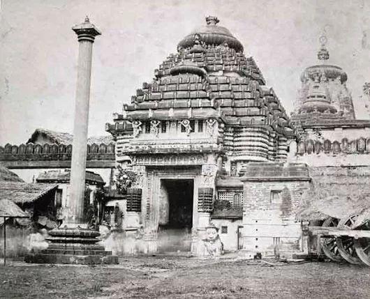 Jagannath Temple, Puri 1870 The Jagannath Temple of Puri, built in the 12th c...