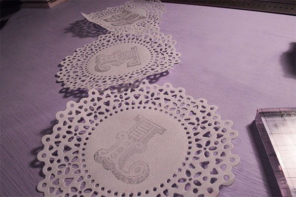Things To Do With Doilies #1: DIY Handstamped Doily Bunting - Oh Hi DIYOh Hi DIY