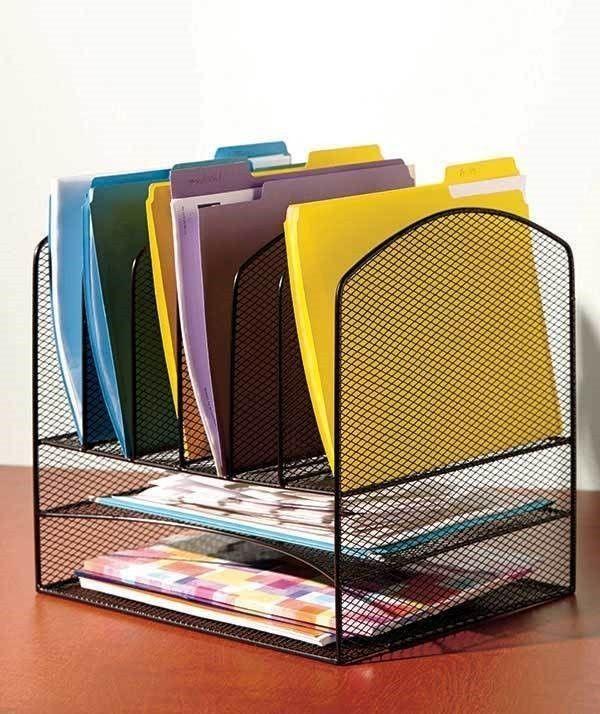Black Metal Mesh Desktop File Organizer Office Supply Storage Holder Desk Work | Business & Industrial, Office, Office Supplies | eBay!