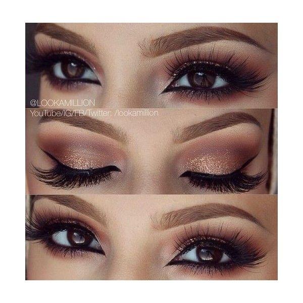 "Bruna Tavares on Instagram: ""Inspiração por @muastephnicole"" ❤ liked on Polyvore featuring beauty products, makeup, eye makeup, eyes and beauty"