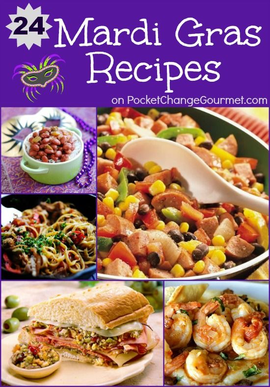Mardi Gras Recipes on PocketChangeGourmet.com