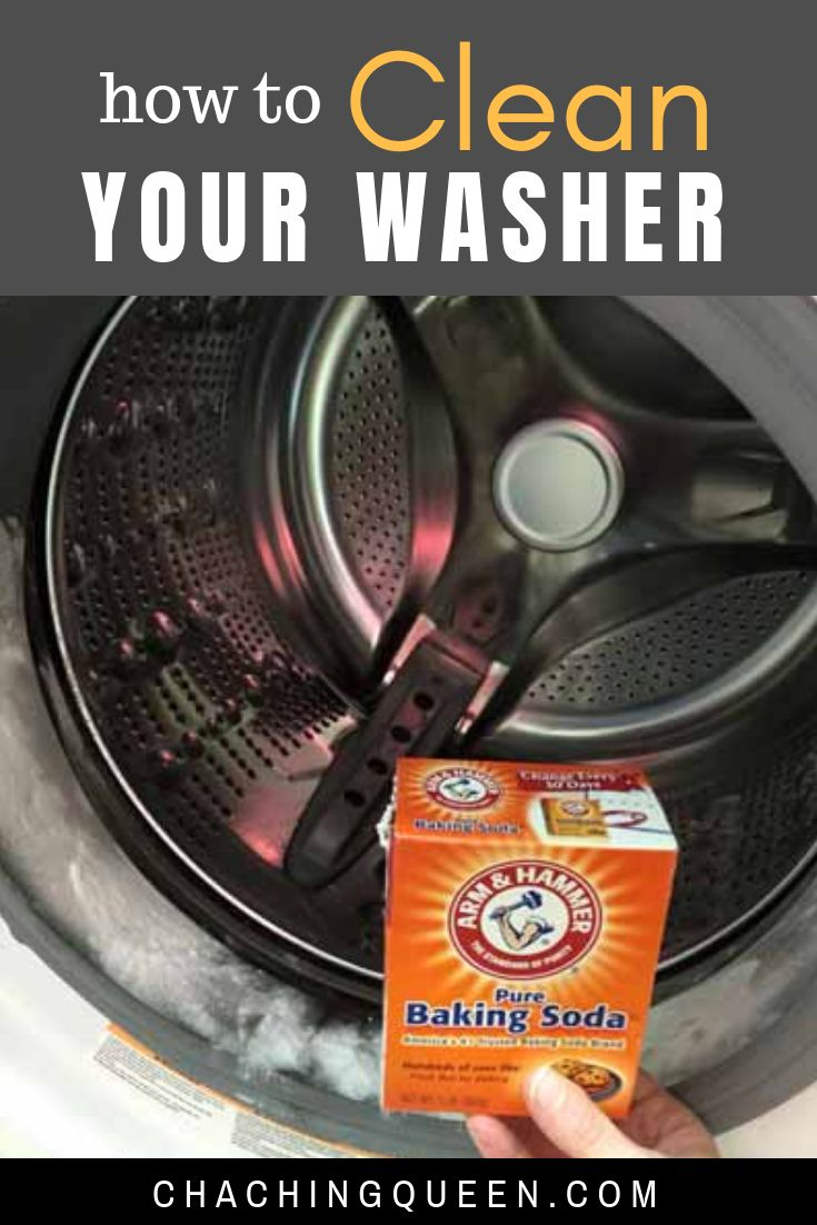 guide on how to clean washing machine with vinegar and baking soda cleaning clean washing. Black Bedroom Furniture Sets. Home Design Ideas