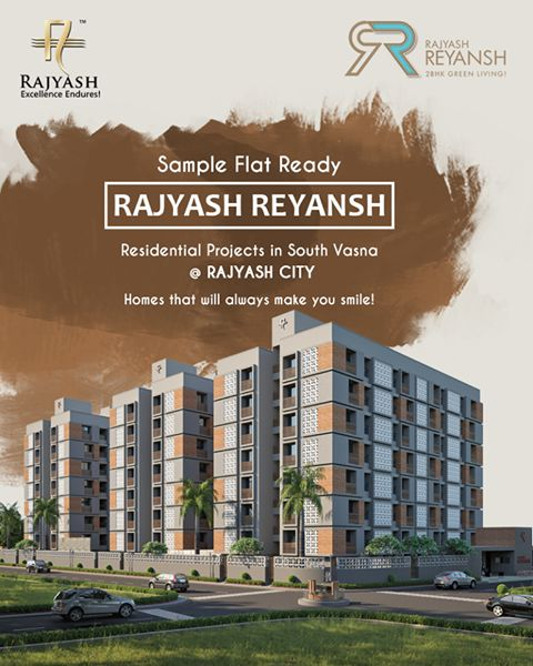 We ensure each one of our resident leads a happy, stress free life. #RajyashReyansh #SampleFlatReady #RajyashCity #RajYashGroup #RajYash #SouthVasna #Ahmedabad