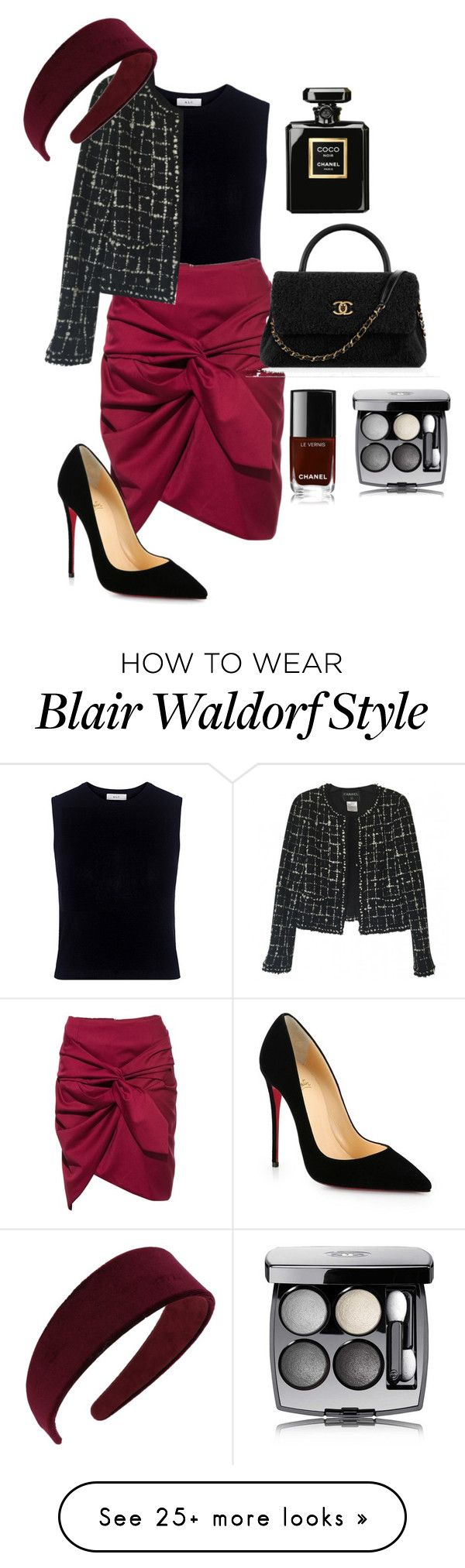 """""""do it like blair waldorf"""" by romydveen on Polyvore featuring A.L.C., Christian Louboutin, Chanel, Miss Selfridge and blair"""